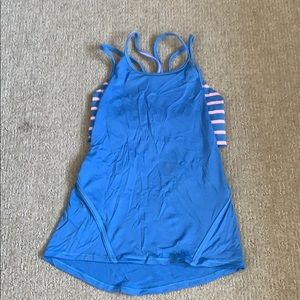 Girls Ivivva tank with built-in bra.